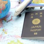 グローバル社会イメージ―パスポートと旅客機